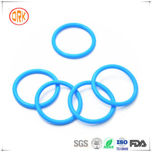 as 568 Blue Silicone Rubber O Ring with RoHS Report pictures & photos
