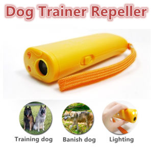 3 in 1 Anti Barking Stop Bark Ultrasonic Pet Dog Repeller Training Device Trainer with LED pictures & photos