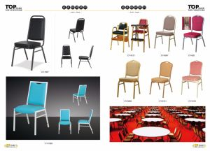 Hotel Metal Stacking Dining Chair pictures & photos