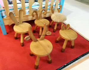Solid Wood Baby Chair Children Furniture Baby Furniture Animal Stool Cow Stool Sheep Stool Bambi Stool Rabbit Stool pictures & photos