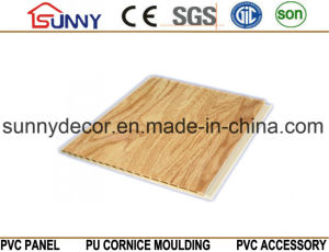 Wooden Color Laminated PVC Panel PVC Ceiling Plastic Wall Panel, Cielo Raso De PVC pictures & photos