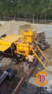 Harsh Working Condition Multi-Functional Diesel & Electric Double Shaft Forced Movable Truck Mounted Concrete Mixer with Pump pictures & photos