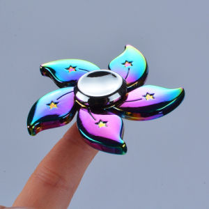 Rainbow Skull Torqbar Metal Tri-Spinner Gyro Toy for Adult Anti-Stress pictures & photos