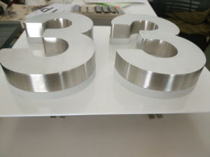 Non-Illuminated Brushed and Polished Metal Stainless Steel Letter pictures & photos