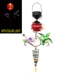 Wholesale Metal Garden Hanging Decoration with Glass Ball Solar Light pictures & photos