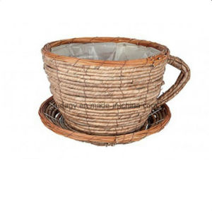 Wicker Cup and Saucer Shaped Garden Planter pictures & photos
