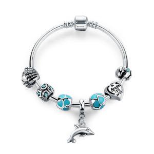 Trendy Pendant Bracelet Women & Blue Beads Heart Charm Cute Dolphin Bangles pictures & photos