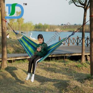 Best Quality Customized Camping Portable Camping Hammock with Wooden Sticks pictures & photos