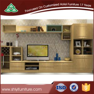 Hot Sale Family Used TV Cabinet Wood Design pictures & photos