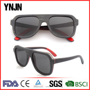 High End Unisex Black Polarized Wood Sun Glasses (YJ-MB180) pictures & photos