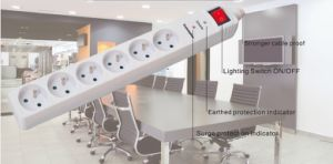 3 Outlets French Power Socket, Power Strip with NF Approval (GGFNBKS03) pictures & photos