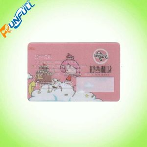 Transparent PVC Card with Offset 4/4 Color for Business pictures & photos