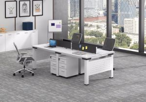 White Customized Metal Steel Office Staff Workstation Desk Frame with Ht10-5 pictures & photos