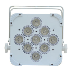 9PCS*15W 5in1 Rgbaw LED Flat PAR Can Light, Disco DMX LED Flat PAR Can pictures & photos