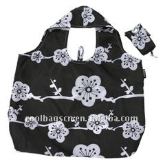 Soft 210d Polyester Foldable Shopping Tote Bags for Ladies (KL404)