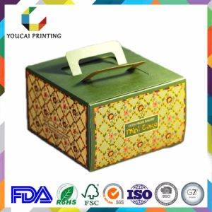 Rigid Paper Cardboard Cake Box with Handle pictures & photos
