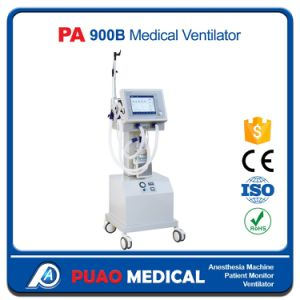 Ce Approved Hospital Ventilator Machine Breathing Machine with Air Compressor (PA-900B) pictures & photos