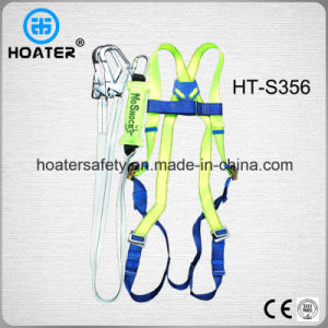 Full Body Harness Shock Absorber Safety Belt with Big Hooks pictures & photos