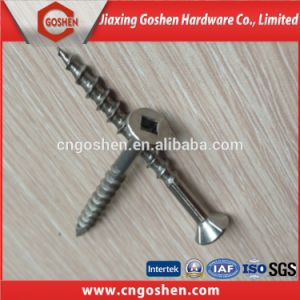 Stainless Steel Countersunk Square Drive Deck Screw/Wood Screw pictures & photos