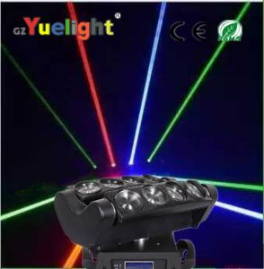 Cheap 8PCS*12W Full Color LED Spider Beam Moving Head Light DJ Light pictures & photos