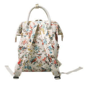 Two Sizes Waterproof Printing Patterns Canvas Lady Backpack (99239) pictures & photos