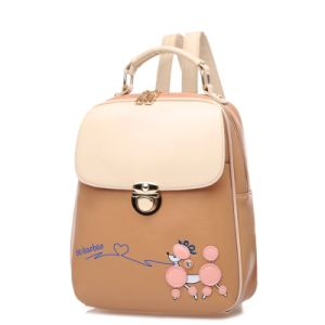 Korean Style Cute Vintage Constrast Colors Girls Backpack pictures & photos