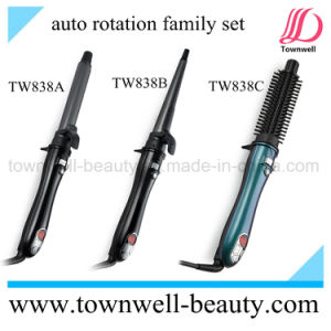 OEM ODM Auto Rotation LCD Hair Curler Comb pictures & photos