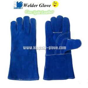 Cow Split Leather Welder Glove pictures & photos