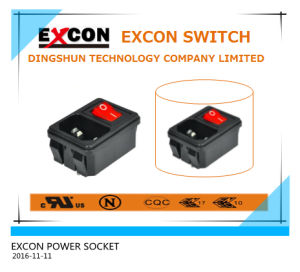 AC Socket Outlet S-03-12-1 Power Socket with Switch pictures & photos
