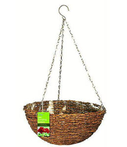 Garden Product Rustic Rattan Hanging Basket pictures & photos