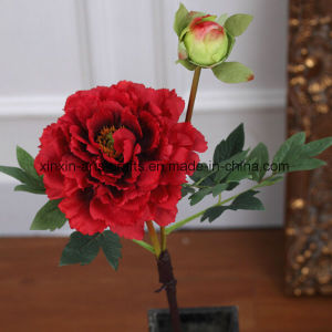 Silk Peony Artificial Flowers with 1flower Head&1bud pictures & photos