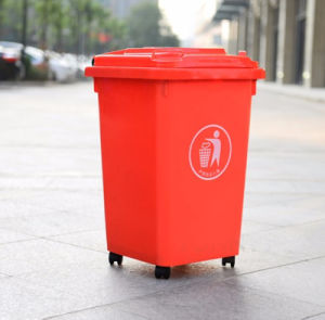 Top Supplier Best Price Plastic Indoor and Outdoor Trash Bin with Wheels pictures & photos