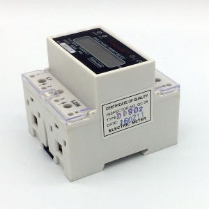 Dds-5L Series DIN Rial Mounted Single Phase Electronic Energy Meter pictures & photos