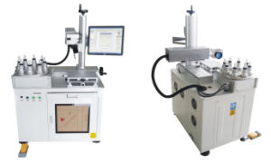 Semiconductor End-Pumped Laser Marking Machine 12W pictures & photos