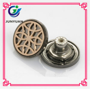 Charming Graven Metal Shank Jeans Button for Jean pictures & photos