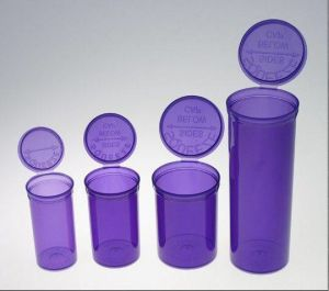 Medical Rx Vial Pill Plastic Bottles with Pop up Lids pictures & photos