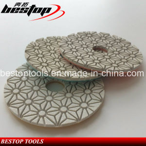 Bestop D125mm Diamond Flexible Polishing Pads for Stone pictures & photos