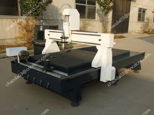 Cylinder Wood Column Carving Machine with Vacuum Table for Woodworking pictures & photos