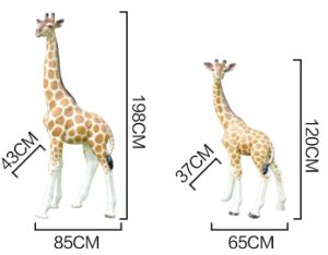 Life Size Outdoor Giraffe of Fiberglass Statue pictures & photos