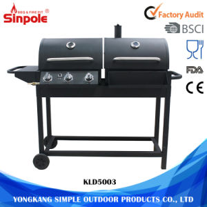 2 Wheel Wholesale Barbecue Gas BBQ Grills Stainless Steel pictures & photos