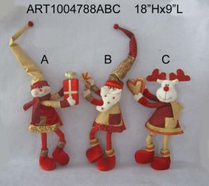 Standing Christmas Toys with Gifts, 3 Asst pictures & photos