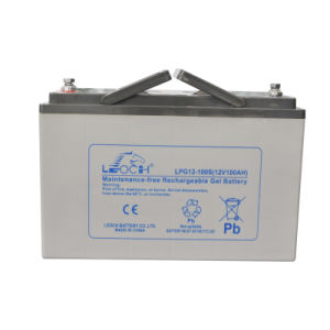 Ce/UL Approve Leoch 12V 100ah AGM Gel Solar Battery pictures & photos