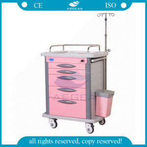 AG-Et007b4 Luxurious 6 Drawers for Hospital Medication Carts pictures & photos