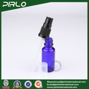 20ml Cobalt Luxury Glass Spray Bottles with Black Lotion Pump Sprayer pictures & photos