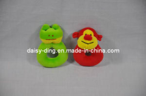 Stuffed Green Frog Toy for Baby with Sound pictures & photos