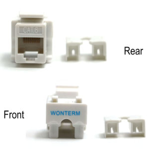 Gold Plated Unshielded Keystone Jack Wall RJ45 Faceplate for Cat5e CAT6 Keystone pictures & photos