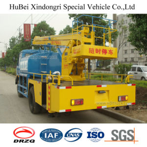 7cbm 7ton Dongfeng Euro 4 Water Sprinkler Truck with Aerial Work Platform pictures & photos