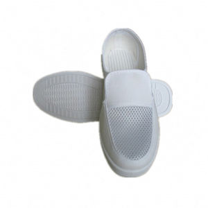 ESD Mesh Shoes White PVC Sole Cleanroom Working Shoes pictures & photos