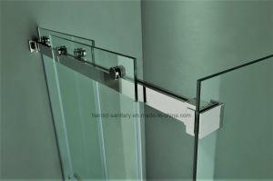 Hr-021-D Straight Frameless Double Sliding Shower Door pictures & photos