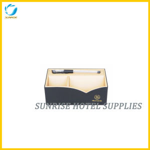 Hotel Room Accessories Black Leather Stationary Box pictures & photos